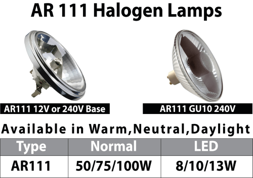 Powersave Installations LTD LED AR111 Halogen Lamps